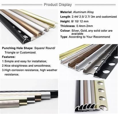 Flexible Chrome Decorative Wallcovering Durability Trim Metal