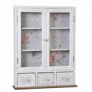 Armoire Murale Chambre : armoire murale en bois style customis gris achat vente ~ Melissatoandfro.com Idées de Décoration