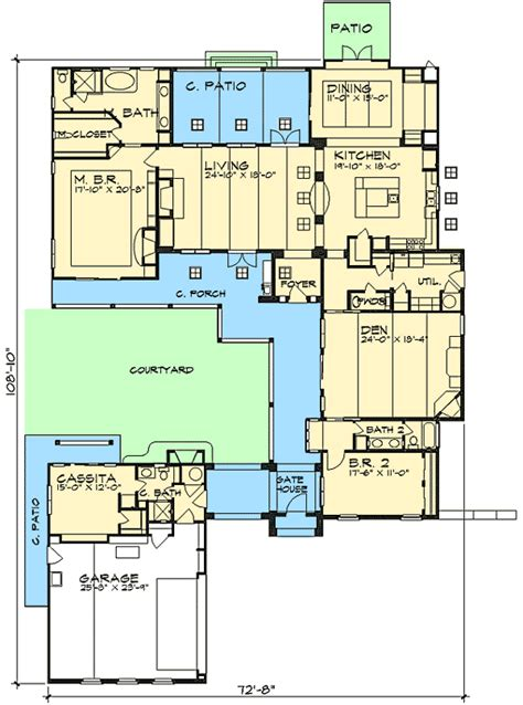plan wjg casita  courtyard classic  architectural design