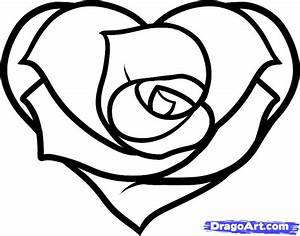 How to Draw a Heart Rose, Rose Heart, Step by Step ...