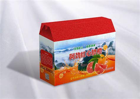 红心脐橙水果包装礼盒设计+印刷--长沙产品外包装设计纸上印_关于包装设计_长沙纸上印包装印刷厂(公司)
