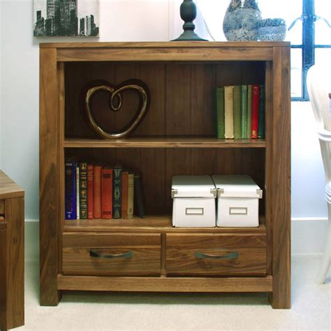Low Bookcases by Kingston Walnut Low Bookcase 3ft 3 Fully Assembled Oak