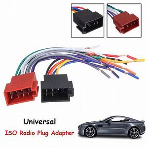 Pair Universal Car Stereo Female Socket Radio Iso Wire