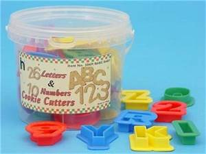 new 10 numbers 26 alphabet cookie playdough cutters ebay With playdough letter cutters