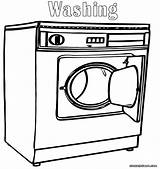 Washer Coloring Washing Machine Door Open Colorings sketch template