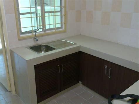 contoh kabinet dapur apartment desainrumahid