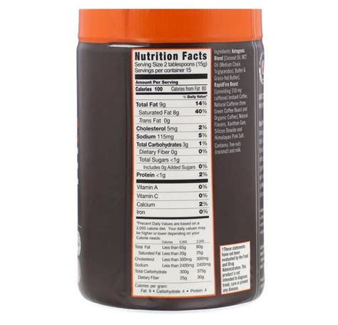 Rapid fire ketogenic creamer does not contain any gluten nor soy. Rapid Fire Ketogenic Fair Trade Coffee Instant Mix 225G - Keto Supplements UK