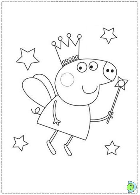 Coloring Peppa Pig by Peppa Pig Coloring Page Dinokids Org