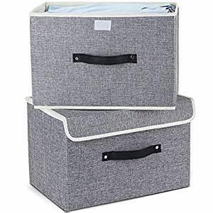 Stoffbox Mit Deckel : aufbewahrungsbox mit deckel 2er set meelife zusammenklappbare faltbare lagerung bins box f r ~ Frokenaadalensverden.com Haus und Dekorationen