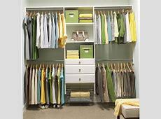 Decorating White Home Depot Closet Organizer With Hanging