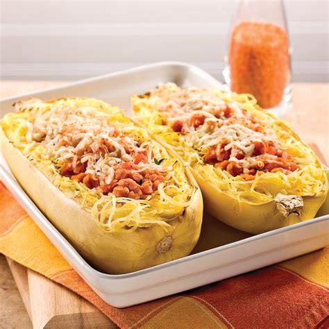 courge spaghetti et sauce aux lentilles corail recettes