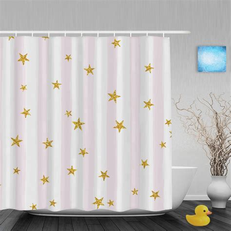 pink and gold shower curtain gold glittering bathroom shower curtains pink white