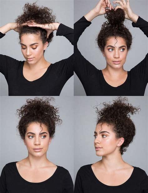 coiffure cheveux boucles coiffure simple  facile