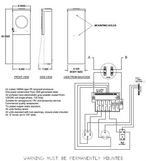 rv park power pedestal wiring diagram wiring diagram schemes