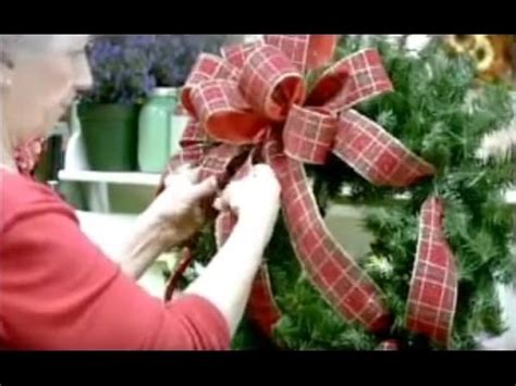 christmas wreath bow youtube