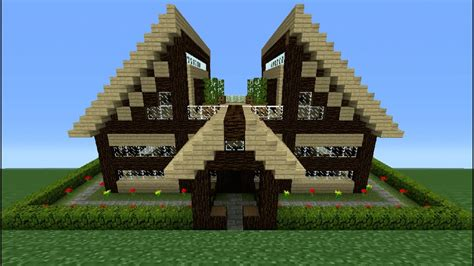 Wooden House In Minecraft - minecraft tutorial how to make a wooden house 11