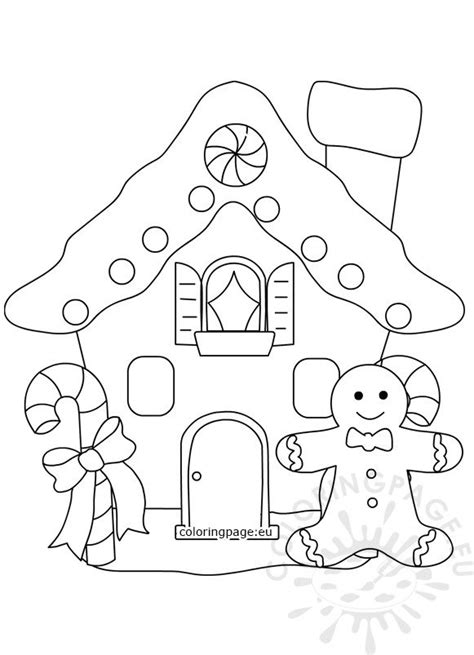 gingerbread house  gingerbread man template coloring