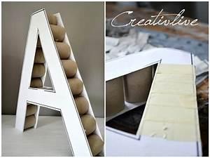 Deko Buchstaben Pappe : diy deko buchstabe creativlive ~ Sanjose-hotels-ca.com Haus und Dekorationen