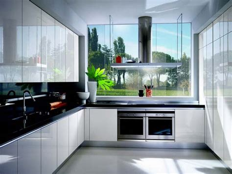 Glossy White Kitchen Cabinets Decor Ideasdecor Ideas