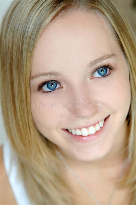 Beautiful Teen With Blue Eyes Stock Photo Image Of