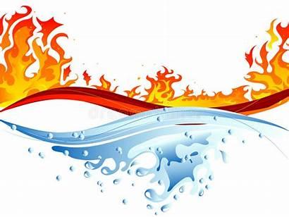 Water Fire Clipart Vector Illustration Illustrations