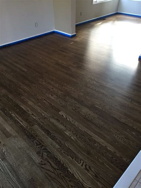 hardwood floors greeley co install red oak 2r 1 with dark walnut stain in fort collins jade floors