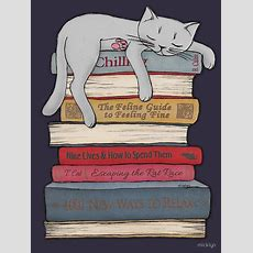 How To Chill Like A Cat  Women's Tshirt In 2019  Cat Books Reading  고양이, 고양이 아트, 개와 고양이