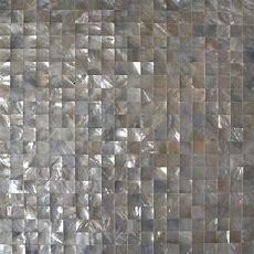 Black Seashell Designer Tiles For Kitchen Backsplash Cheap