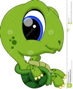 Cute Cartoon Baby Turtle