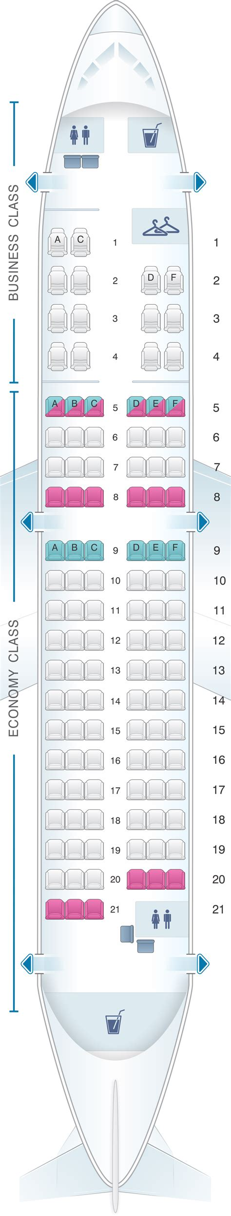 siege business air plan de cabine tarom airbus a318 111 113pax seatmaestro fr