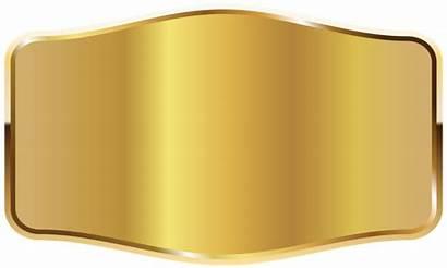 Label Gold Clipart Labels Badges Transparent
