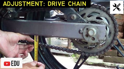 How To Adjust Motorcycle Drive Chain Slack