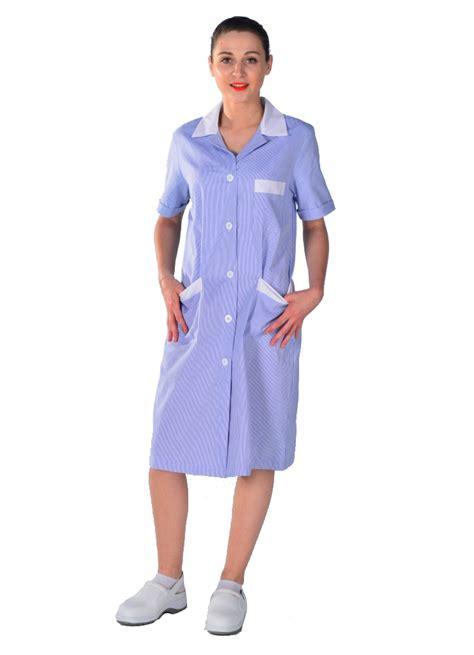tablier femme de chambre blouse de travail femme de ménage bleue blouse femme de