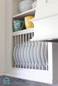 DIY Plate Rack for Dish Organization - Sawdust Girl®