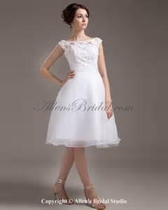 knee length wedding dresses allens bridal lace bateau neckline knee length a line wedding dress
