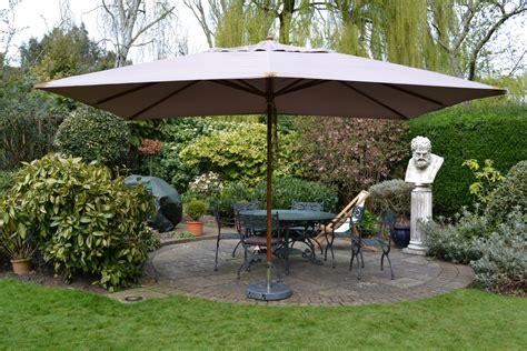 sturdi plus rectangle fsc wooden parasol 3 x 4m taupe