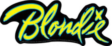large gift bags blondie band logo sticker