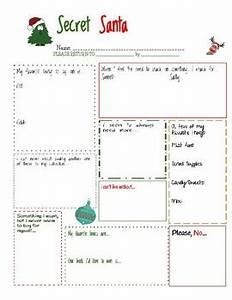Secret Santa Worksheet by Picas and Pearls in 3123