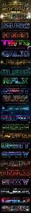 20 Lighting Psd Text Effects Pack 04  U2014 Layered Psd  Text
