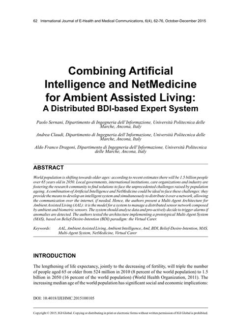 (PDF) Combining Artificial Intelligence and NetMedicine