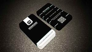 Free black white with aqua color tech vertical business card for Color tech business cards