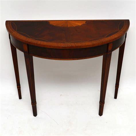 mahogany console tables antique inlaid mahogany console table marylebone 3948