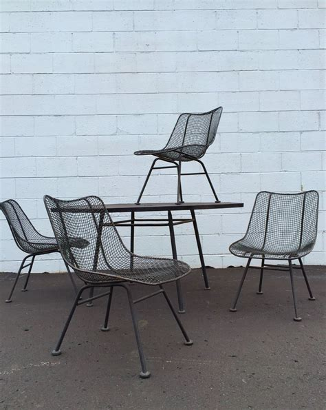 white metal mesh patio table home design ideas