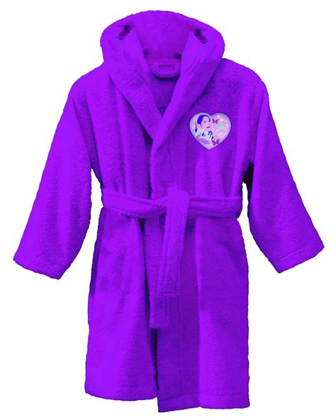 robe de chambre princesse peignoir violetta sortie de bain 6 à 8 ans