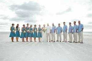 Magic Dress Bridesmaid UK Inspired Blue Beach Wedding for Bridesmaids and Groomsmen | Claire ...