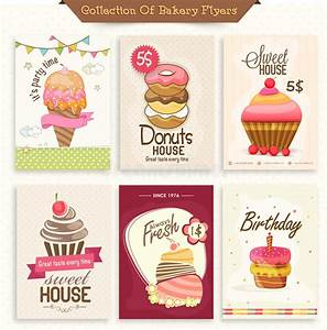 Collection Of Bakery Flyers. Stock Illustration ...