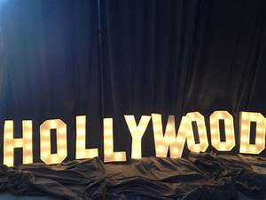 Hand crafted hollywood sign marquee letter 18 inch tall for Hollywood sign letters