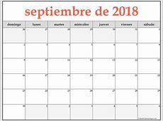 septiembre de 2018 calendario gratis Calendario de