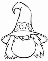 Coloring Witch sketch template