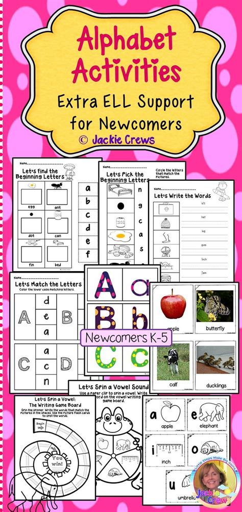 esl newcomers alphabet activities extra ell support